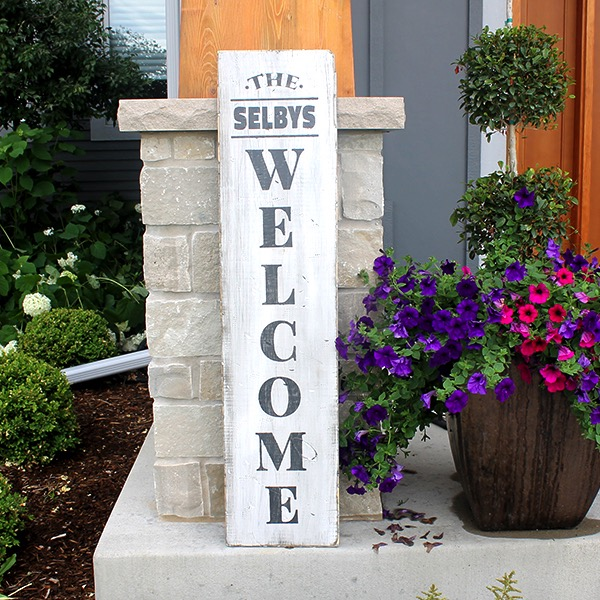 Porch Welcome - 12x48 Wood Sign