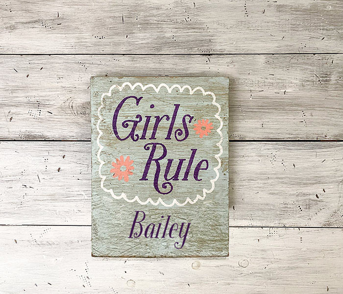 Girls Rule - 12x14