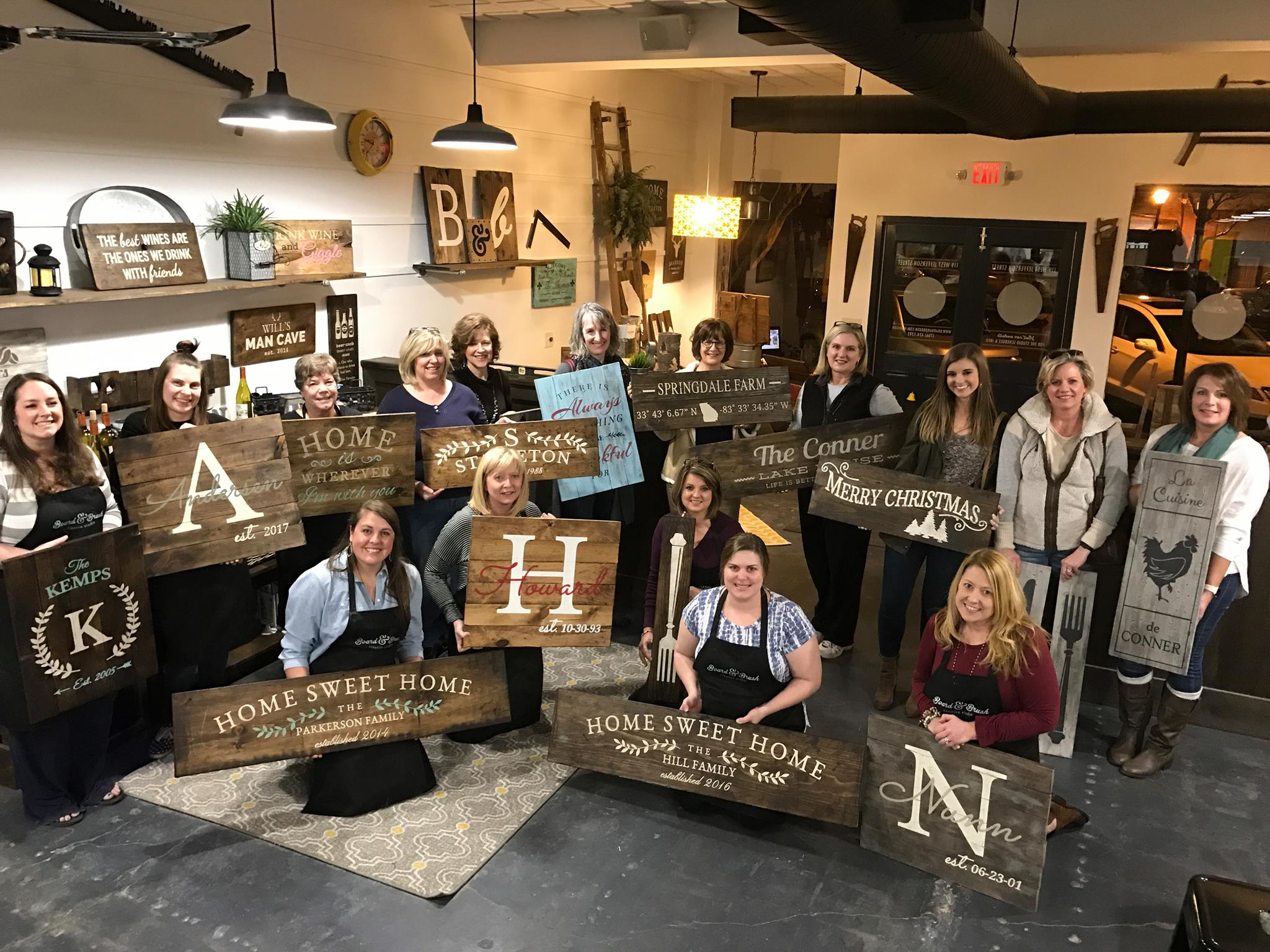 Wine, Paint and Wood Sign Workshops