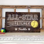 All-Star Fetcher - 16x24 Wood Sign