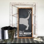 Tail Waggin' Good Time - 14x26 Framed Wood Sign