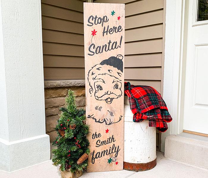 Vintage Santa Porch - 12x48