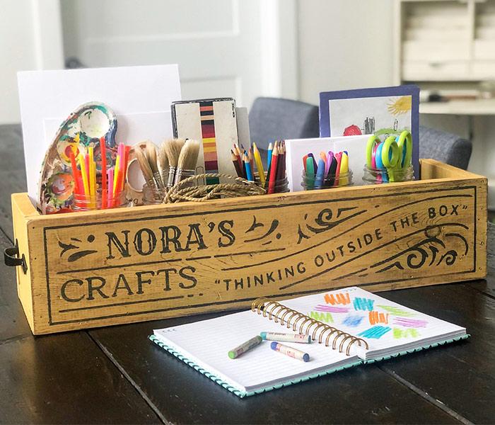 Craft Box - 24x6x8 Wood Box