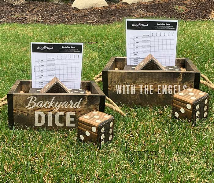 Backyard Dice and Box