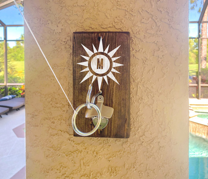 Sun Monogram Ring Toss - 6x10