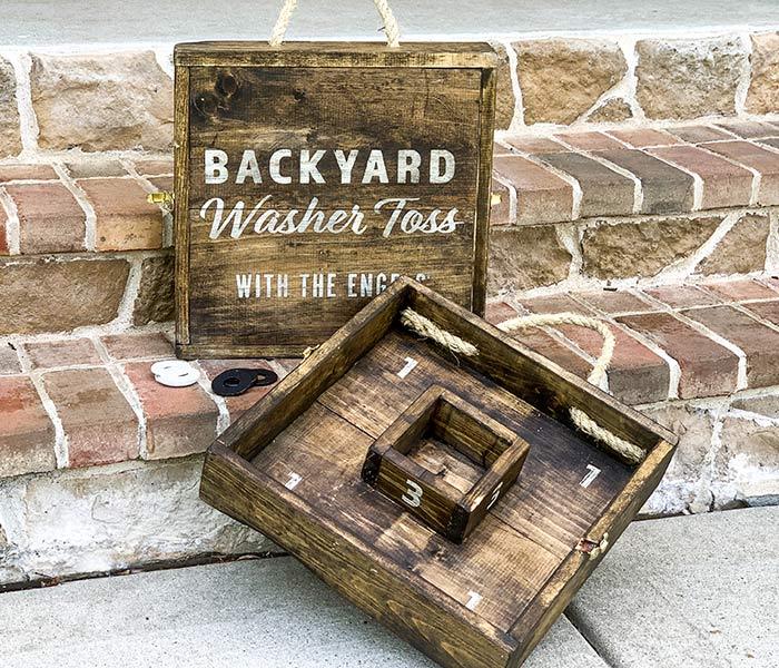 Backyard Washer Toss