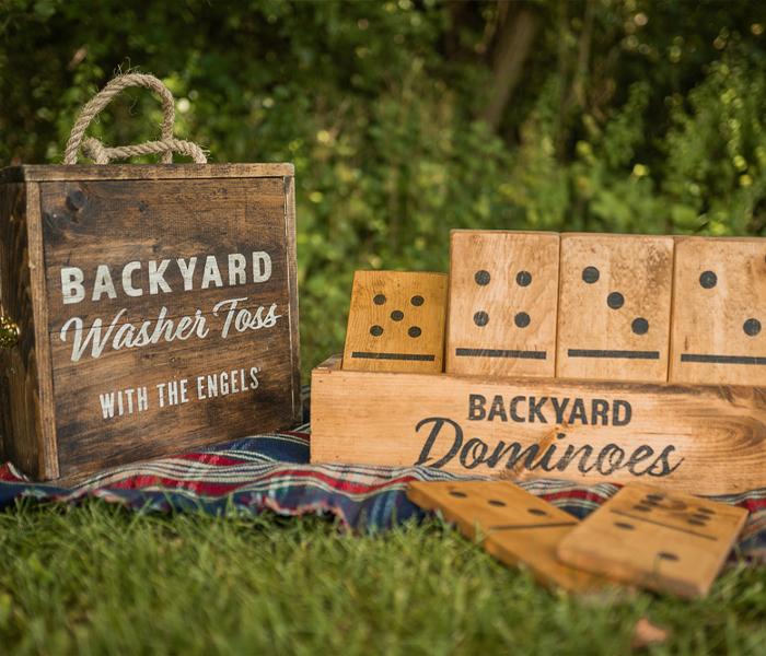 Backyard Dominos Camping