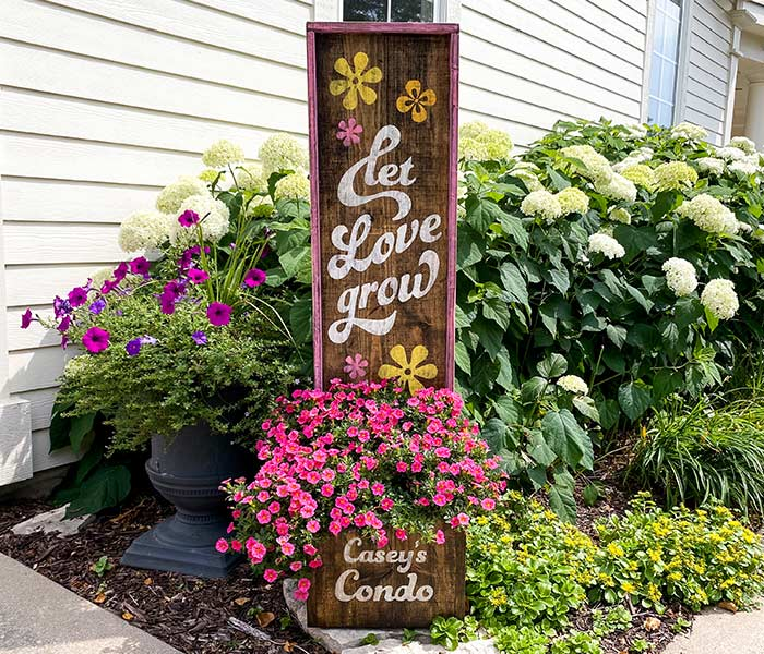 Let Love Grow Planter - 14x50 Framed