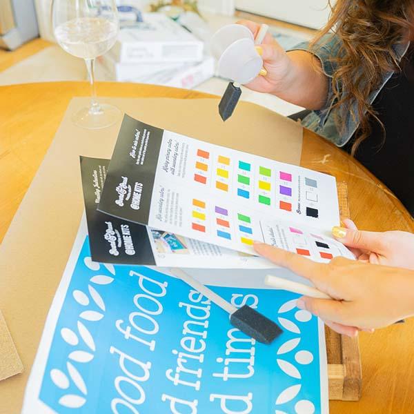 Virtual take home workshop kit