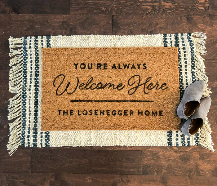 Welcome Mat Staged