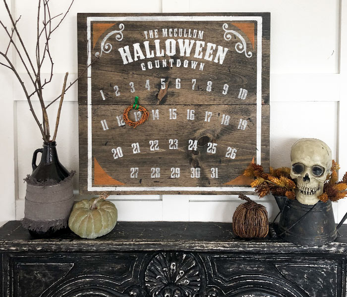 Gothic Style Halloween Countdown - 24x24