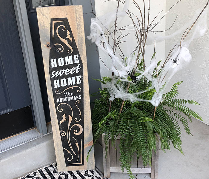 Home Sweet Home Coffin - 12x48