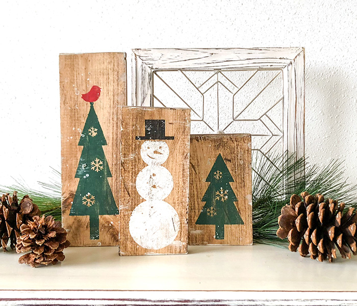 Snowman and Trees Trio