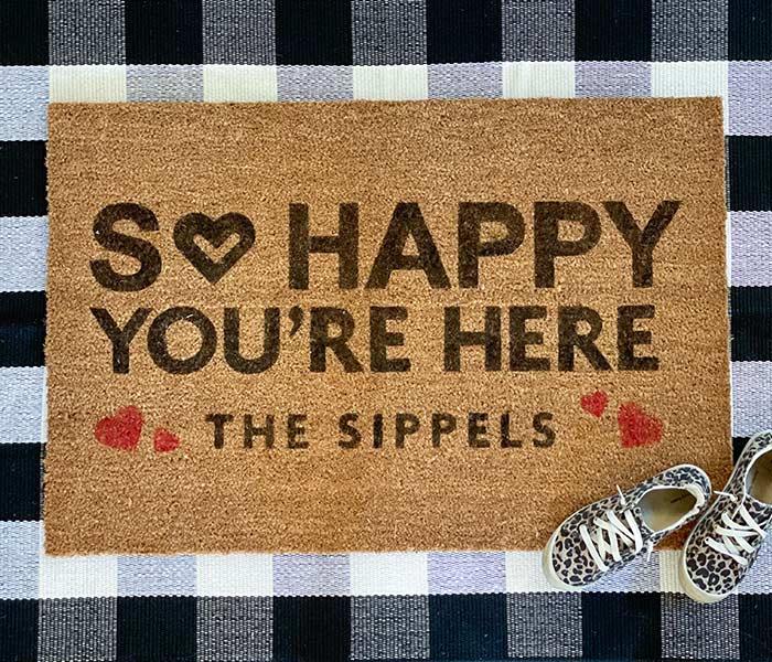 So Happy You're Here - 24x35 Doormat