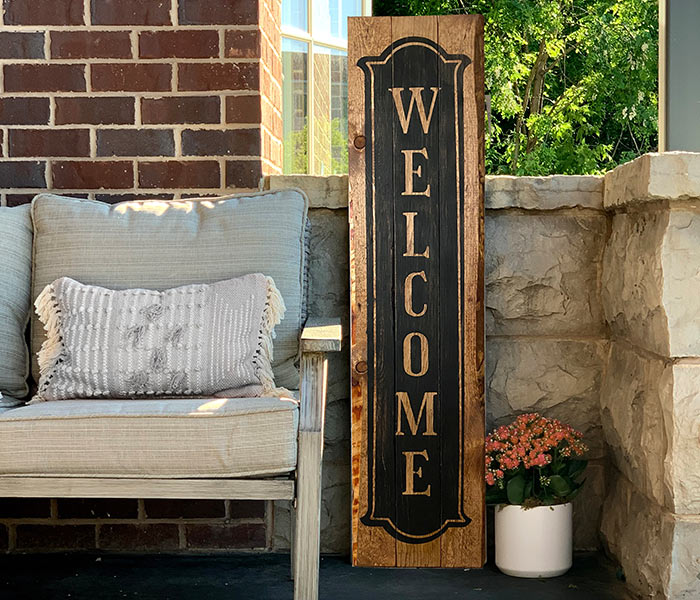 Vintage Welcome Porch - 12x48