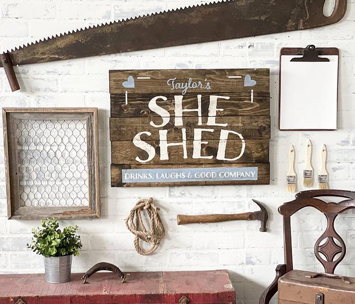 She Shed - 20x24