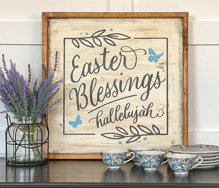 Easter Blessings - 22x22 Framed