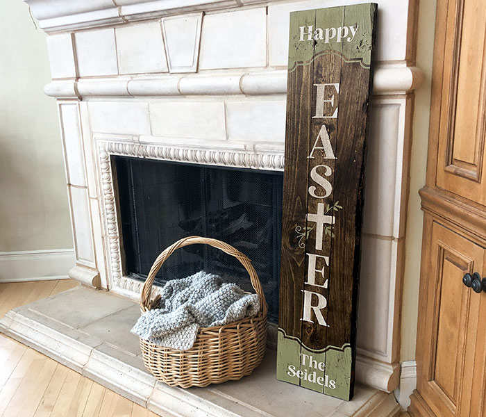 Happy Easter Cross Porch - 12x48