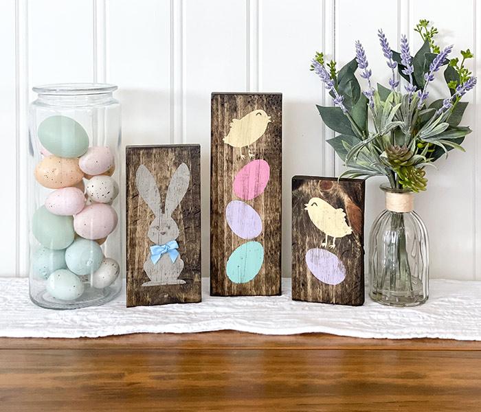 Bunny Chick and Eggs Trio