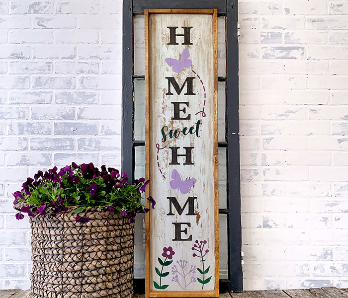 Home Sweet Home Butterfly Porch - 14x50 Framed