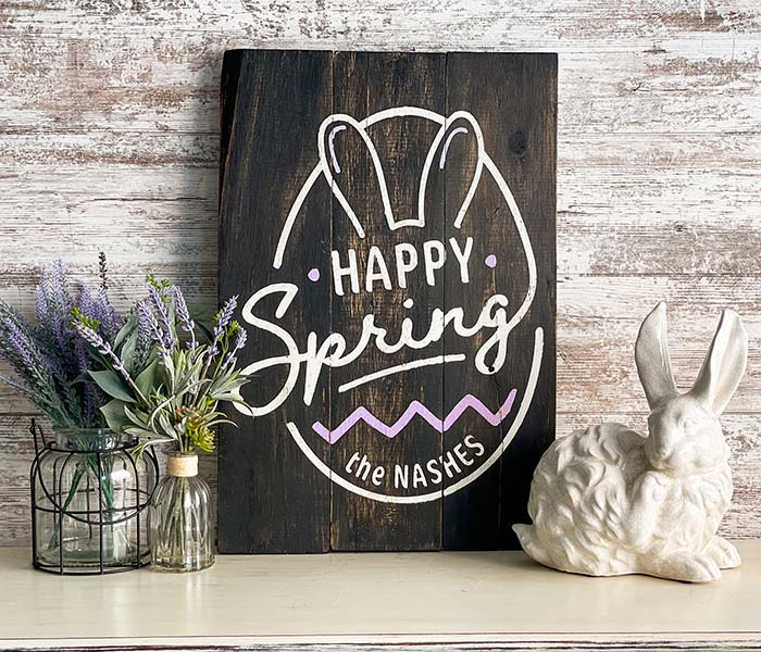 Happy Spring Bunny Egg - 18x24