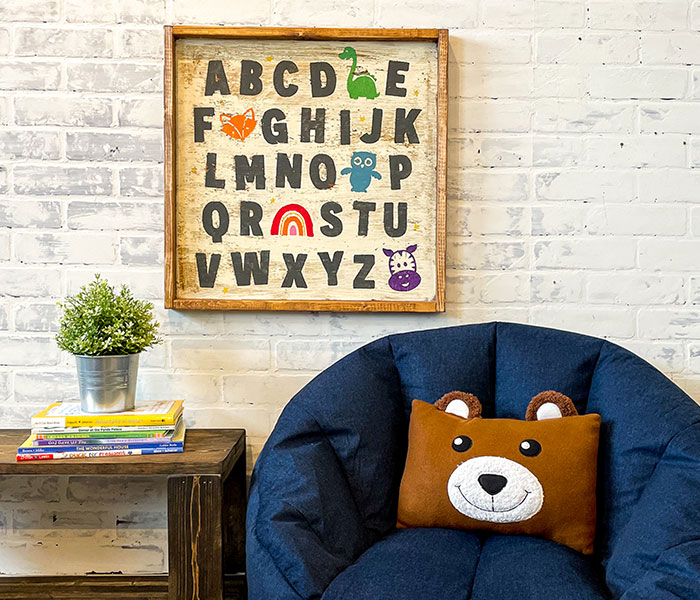 Animal Alphabet - 22x22 Framed
