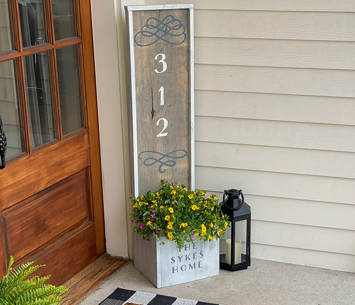 Decorative Address Planter