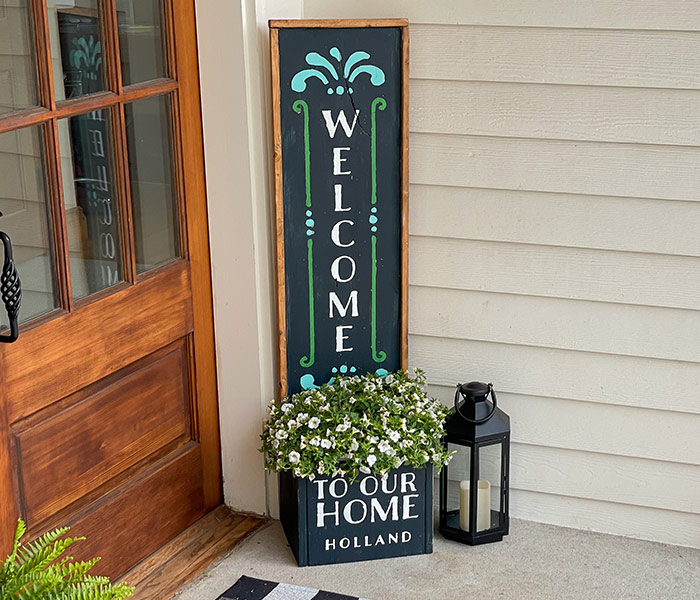 Welcome to Our Home Flourish Planter