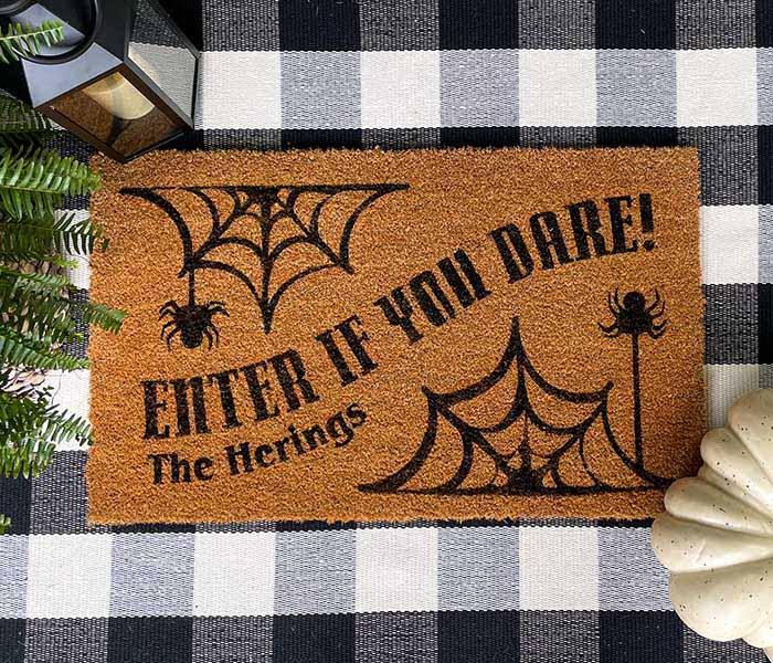 Spiderweb Enter Doormat