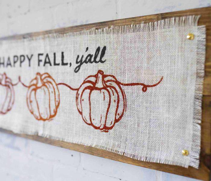 Happy Fall Burlap Project