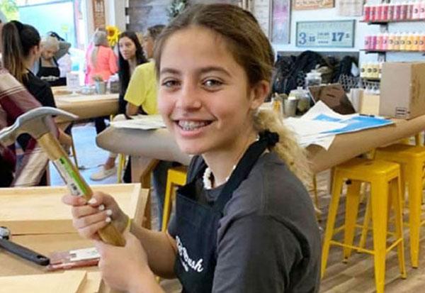 Teen at DIY Workshop