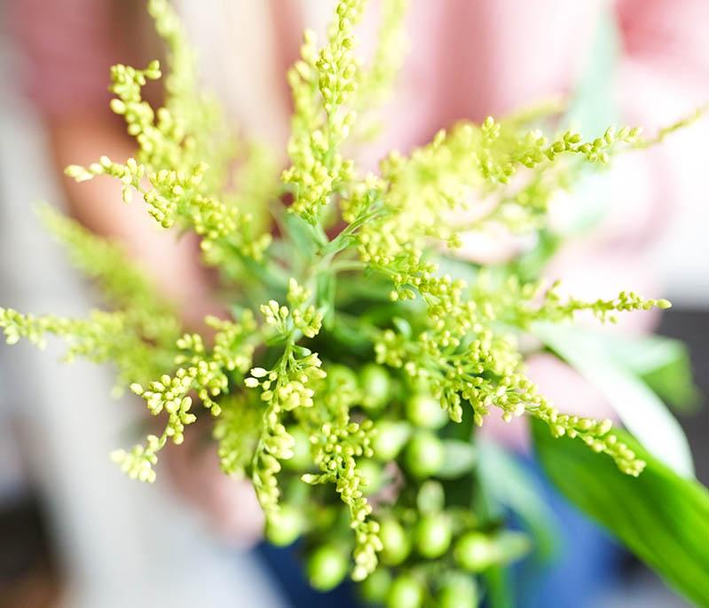 Green Fall Florals